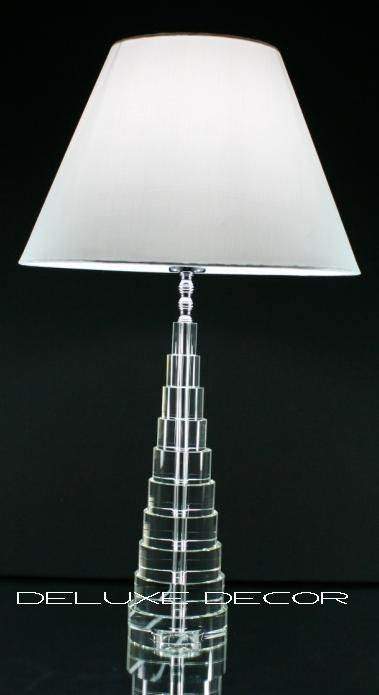 Modern Stylish Crystal Glass Table Bedside Lamp Base 9320G EW http://deluxedecor.com.au/products-page/table-lamps/modern-stylish-crystal-glass-table-bedside-lamp-base-9320g-ew/