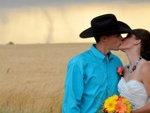 Tornado Backdrop in Kansas Wedding Photos
