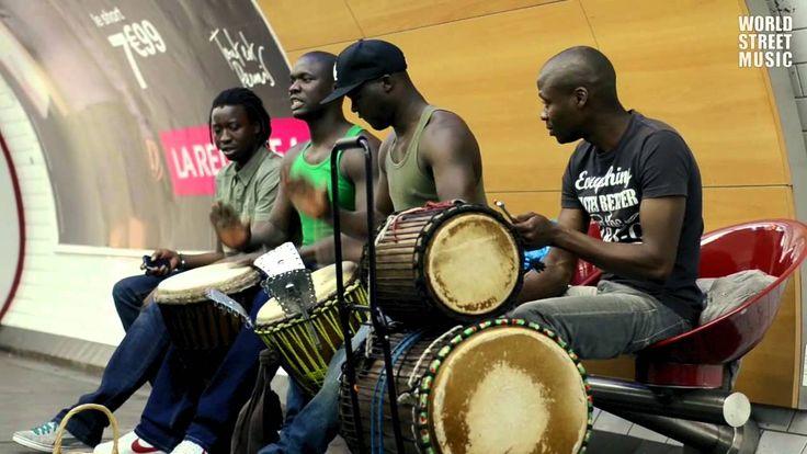 African Djembe Drummers in Paris Metro [HD]