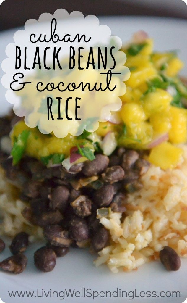 Black Beans & Coconut Rice Recipe | Coconut Rice, Cuban Black Beans ...
