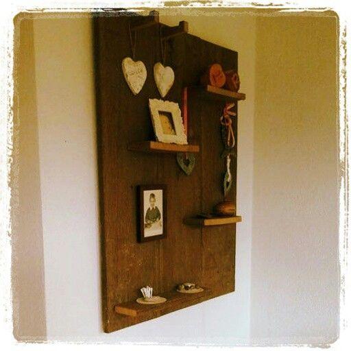 Van mooi hergebruikt hout iets nieuws maken...love it♡