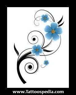 Forget Me Not Flower Tattoos | rib tattoo flowers little tattoo flowers yin yang tattoo with flowers ...