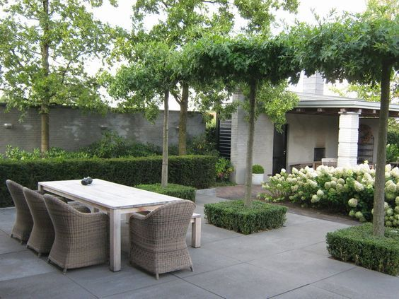 Modern Country Style: Using Grey Rattan Kubu Chairs In Modern Country Style Gardens Click through for details.