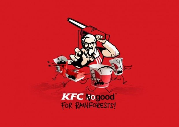Greenpeace UK: No matter what you think about fast food, you'll no doubt agree that rainforests shouldn't be trashed to make packaging destined for the rubbish pile. But that's exactly what's happening. Asia Pulp & Paper (APP) is supplying KFC with packaging products that are made from Indonesia's rainforests. Join the Revolt!