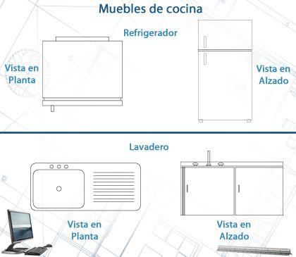 Mejores 10 im genes de planos de casa de autocad en for Planos de muebles de cocina pdf
