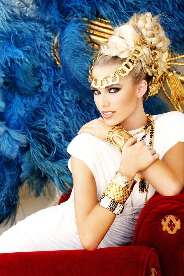 "Miss Indiana USA 2012 - ""Gardens of Goddess"" photo shoot by Fadil Berisha at Caesar's Palace Las Vegas Hotel & Casino pool."