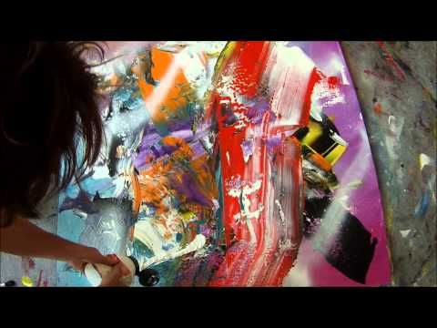 NEW! Learning how to paint with broom, squeegee and scrapers 2 (HD) by Jan van Oort - YouTube