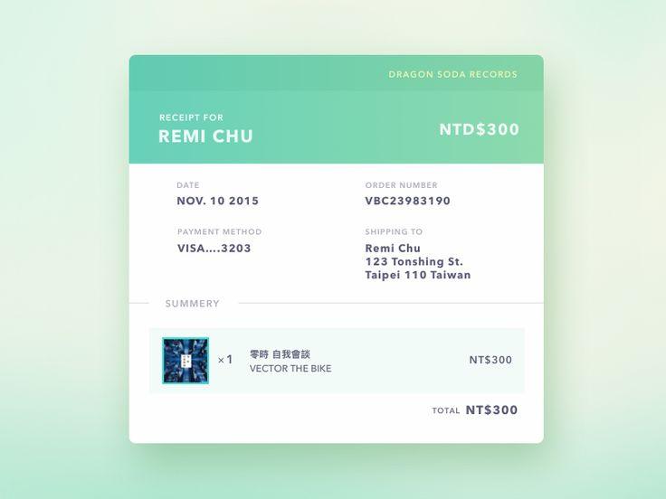 264 best Mobile\/App Design images on Pinterest Mobile app design - money receipt design