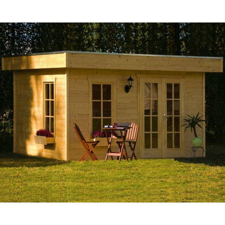 Skan Holz 28 mm Gartenhaus Blockbohlenhaus Breda | mein-gartenshop24.de