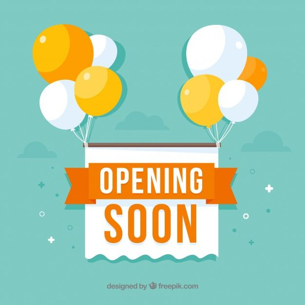 Download Opening Soon Background In Flat Style for free ...