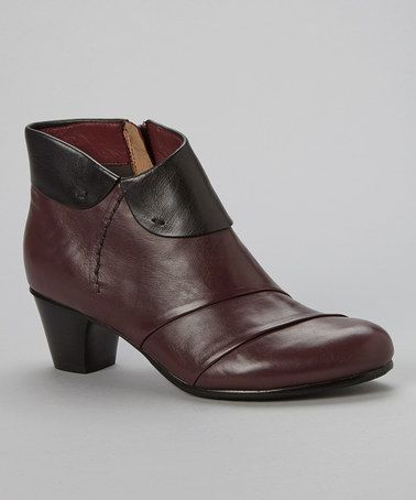 Another great find on #zulily! Vino & Black Galore Leather Ankle Boot by Everybody Shoes #zulilyfinds