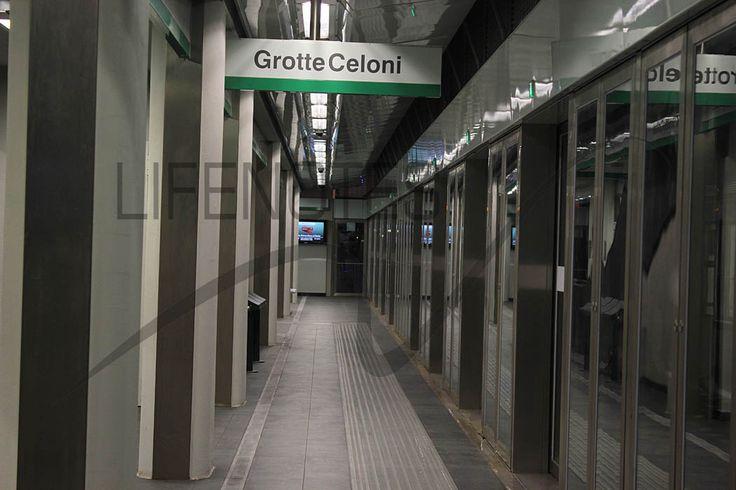Metro C Roma - banchina Grotte Celoni