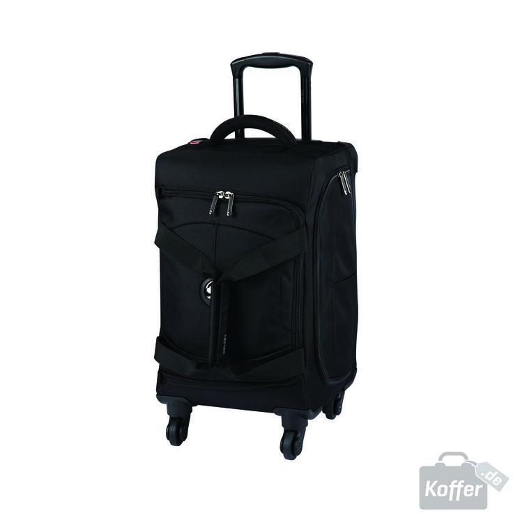 Delsey U-Lite 4-Rollen Trolley Kabinen-Reisetasche 55 cm black