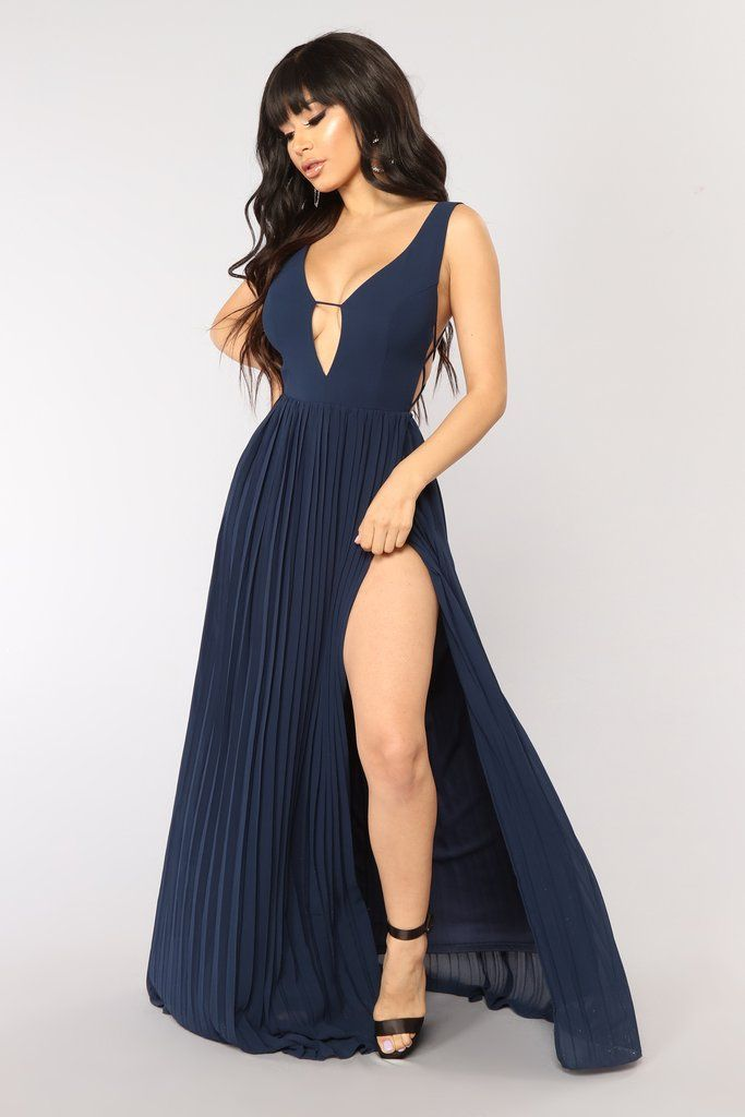6f2021bea0103d State Dinner Dress - Navy | Fashion Nova | Dresses | Dresses, Lace burgundy  dress, Fashion