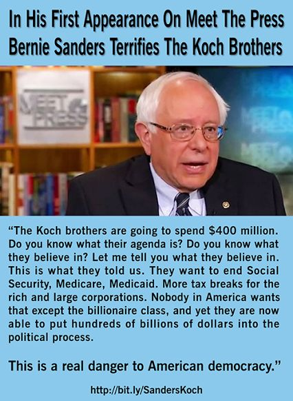 People like the Koch brothers believe that their wealth buys them the right to do whatever they want to anyone they want.  They have set their sights on an entire nation of people, the American people.  Well, that only works if an entire nation of people lay down and give up.  Vote as if your life depends on it in November...because it does.