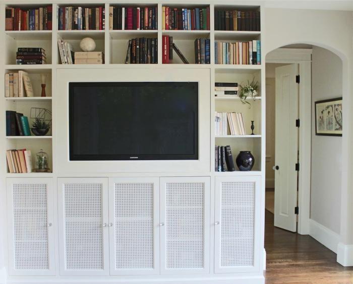 Arranging books etc....around the TV