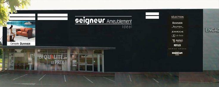Venez chez Seigneur Ameublement (anciennement Idéal Home) à Montgermont, près de Rennes entre Betton et Pacé, magasin d'ameublement salons et salles à manger de grandes marques comme Duvivier, Burov, Jean Roche, Steiner ...