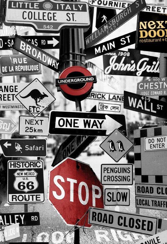 mural señales - Urbano - Diseños bloom