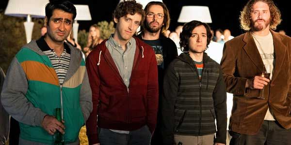 """2014: The cast of HBO's comedy """"Silicon Valley"""" -- inspired by co-creator Mike Judges; real life experience as a computer programmer in the 19080s - is awash with hoodies as they attempt to strike it big in the current high-tech gold rush."""