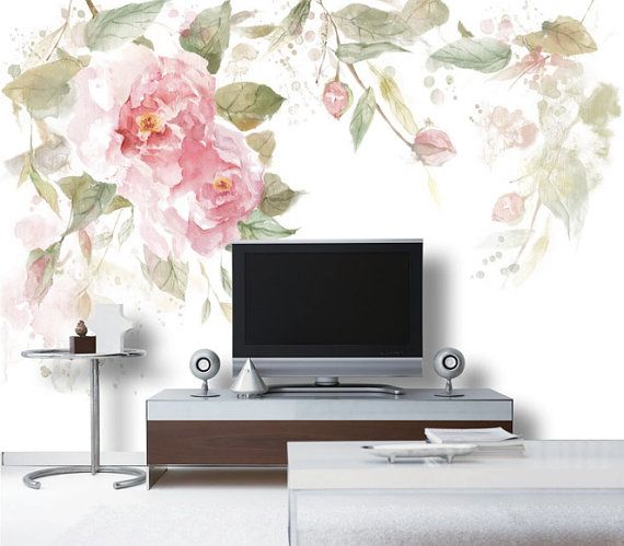 This Watercolor Roses Pattern wallpaper is Specially Designed and Custom Made to fit almost Any Size of Your Walls! As a great revolution of traditional repetitive patterns, it makes your room as Artistic as with a Fabulous Mural!  ------------ Material ------------ All our artwork is printed on High Quality Germany Non-woven Paper with Laser Digital Printing Technology and Belgium Food-Safe Toners. ----------------- Advantages ----------------- 1. Moisture-proof & Mildew-proof Material  2…