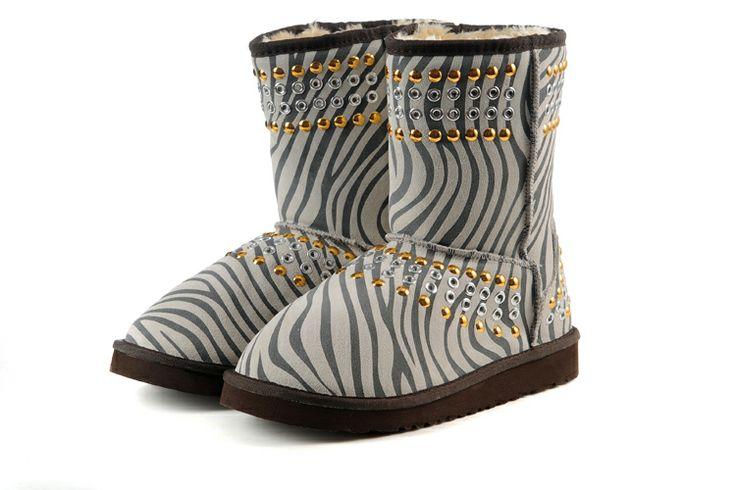 ... UGG Boots 3041 Grey Leopard AAA