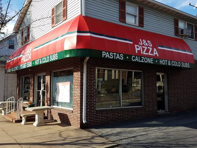 Commercial Wraparound Facade Awning With Lettering Installed By Kreider S Canvas Service Inc Of Lancaster Pa Shop Awning Awning Facade