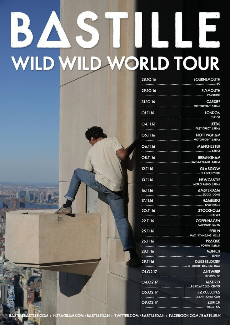 BASTILLE (@bastilledan) | Twitter WILD WILD WORLD TOUR... They will never come to Mexico?, ever?