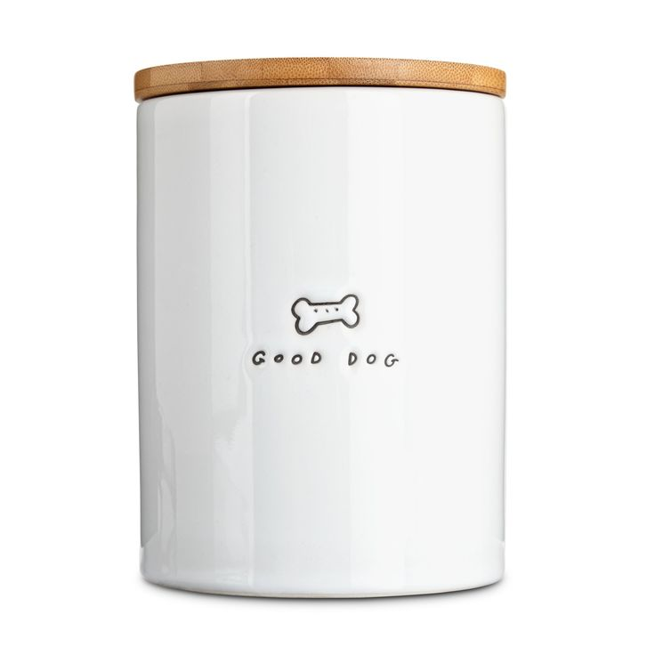 The Harmony Large Ceramic Dog Treat Jar answers the age old question: who's a good boy? Praise your favorite pup with every treat! This ceramic jar looks great in any home and ensures every treat is as fresh as the last.