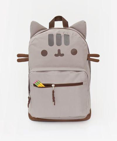 Pusheen the Cat backpack - Hey Chickadee   http://www.heychickadee.com/collections/back-to-school/products/pusheen-the-cat-backpack