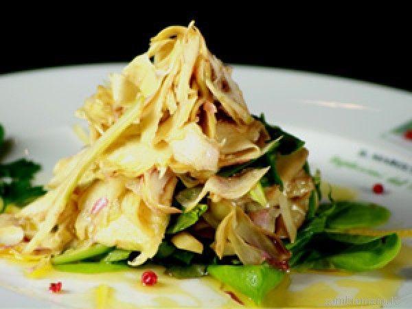 Cambia Menu » Insalatina di carciofi crudi e cotti con pere e salsa al limoncello | Ricette