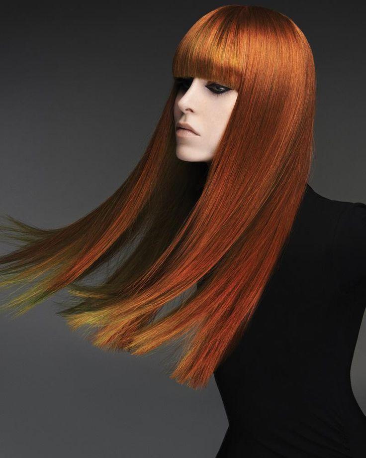 ¡Largos, lisos y color! Viva la #peluquería. #Hair: Ken Picton, Paul Dennison and Nicola Stevens
