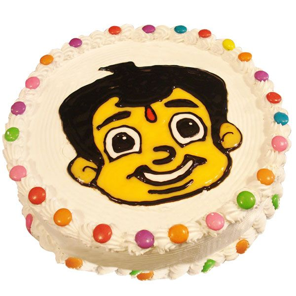 Nothing delights a kid more than a cartoon cake especially when he spends most of his time watching the character on TV each day. That is why we have come up with a very special Chota Bheem cartoon cake! You definitely can't think of a better way to surprise your kid on his birthday.