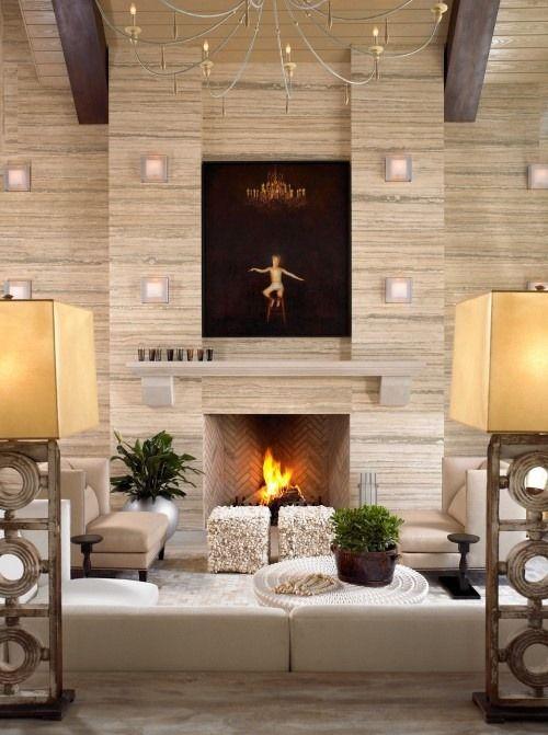 Natursteinwand im Wohnzimmer – der natürliche Charme von ...
