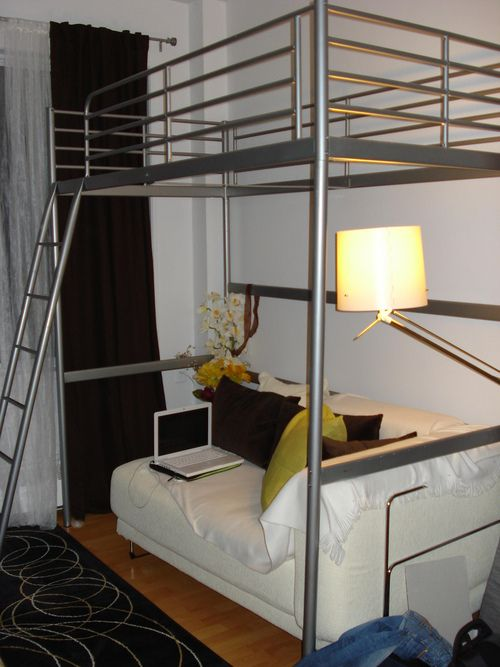 1000 ideas about loft bed frame on pinterest lofted beds twin bed frames and bed frames. Black Bedroom Furniture Sets. Home Design Ideas