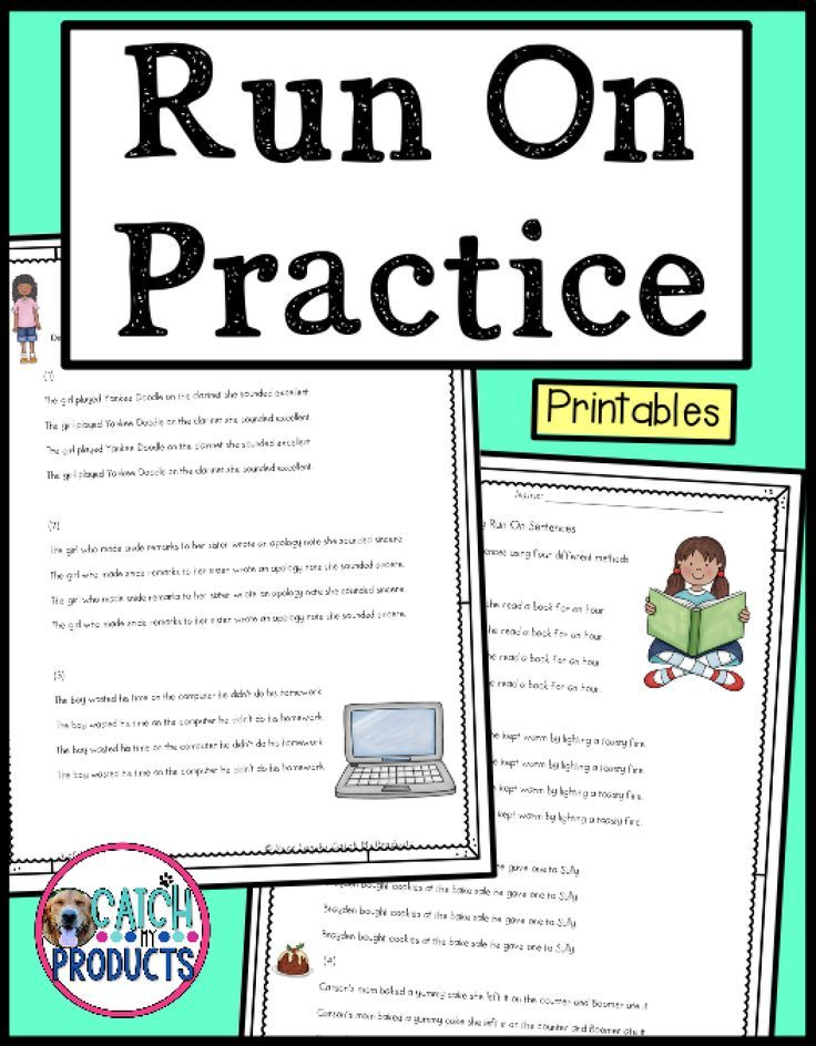 Pin On All Things Elementary Fixing run on sentences worksheets