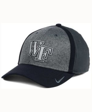 Nike Wake Forest Demon Deacons Heather Stretch Fit Cap - Gray OSFM