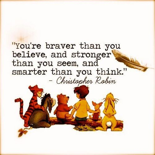 I used to say this to my son Patric. He reminds me of Pooh. My son Tyler reminds me of Tigger. There is a great song in this movie 'Pooh's Grand Adventure', called'Forever and Ever'. I sang it to them often.