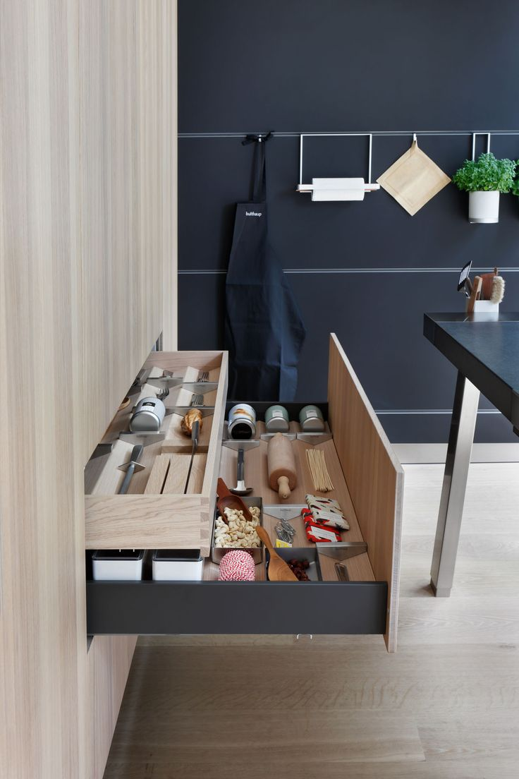 bulthaup b3 deep pullout with internal drawer in oak