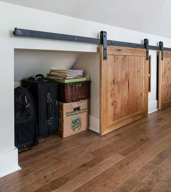 Barn doors for attic space