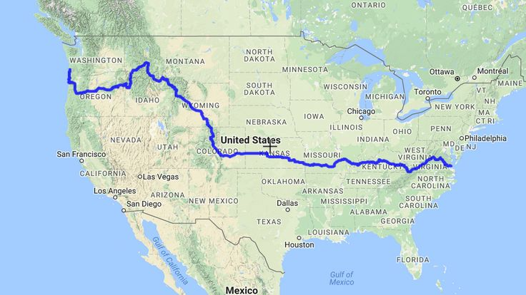 The Transamerica Trail.  4,300 miles across America by bicycle...