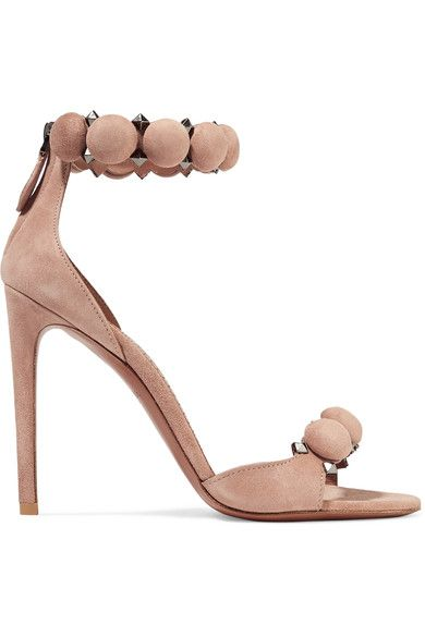 Heel measures approximately 110mm/ 4.5 inches Beige suede Zip fastening along back Designer color: Chair Made in Italy
