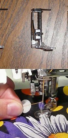 Как подготовить швейную машину для свободно-ходовой стежки..