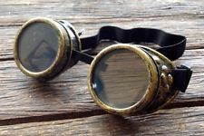 Steampunk goggles antique gold burning man costume circus victorian goth funk