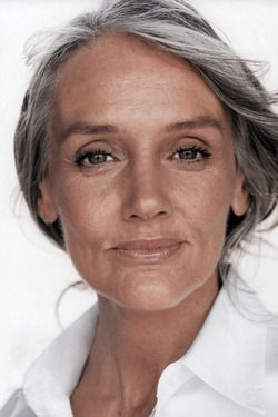 Hope I look half as good as this lady when I'm old-er gray!