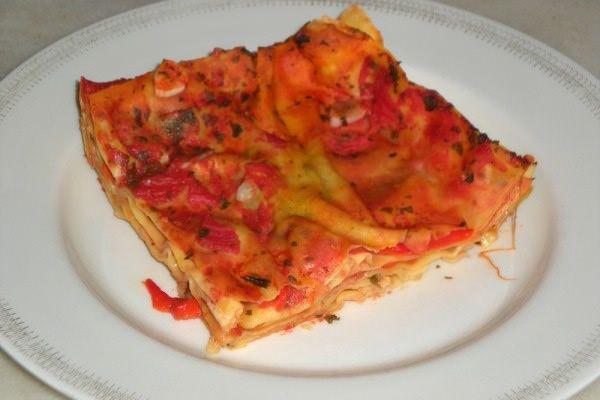 Lasagne light con peperoni al sapore d'estate