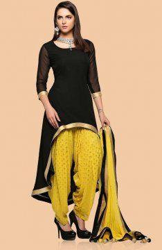 Designer Patiala Salwar Suit Replica Design with Chiffon Dupatta Custom Made RS024