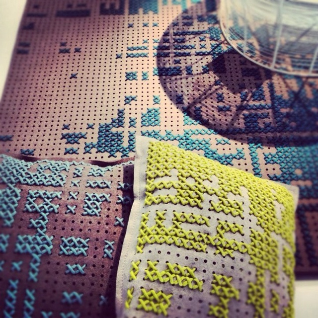 Cool cross-stitch. Pic from apartment therapy