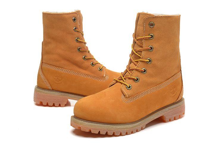 Timberland Womens Yellow Wheat Leather Boots,Fashion Winter 2016 New Timberland Women Boots