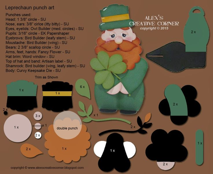 Alex's Creative Corner: Leprechaun Curvy Keepsake Wrapper Instructions