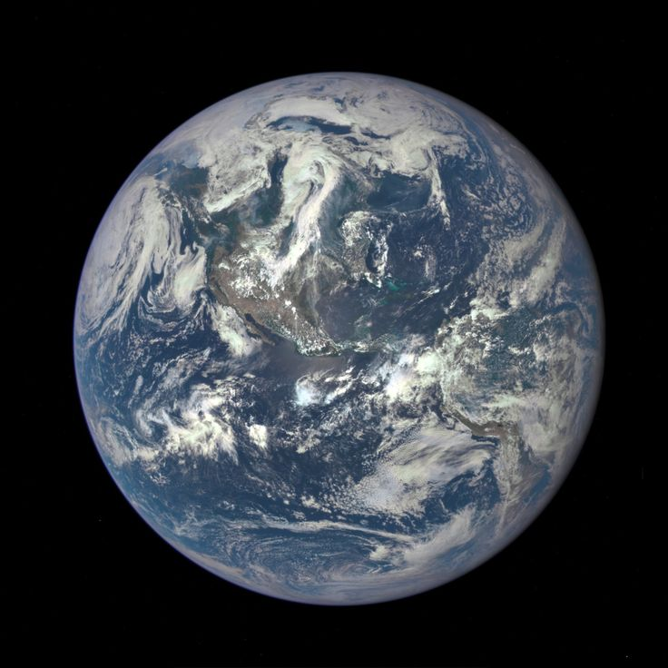 NASA released the first image of Earth from its Deep Space Climate Observatory satellite on 7/20/15.